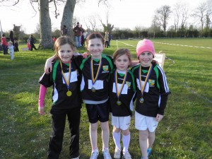 Winning Ardagh National Girls 2nd Class Relay Team