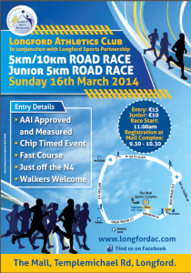 Longford AC 5K / 10K Road Race - 16 March 2014